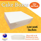 CAKE BOXES 14x14x6 Inches Qty 20/Pack Brand New - Wedding Cake Box Cupcake Boxes