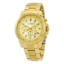 Citizen Gold Tone Dial Mens Chronograph Watch AN8083-51P