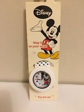 Disney Mickey Mouse Slap It On Wrist Watch, White - NIP