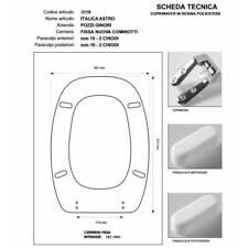 Sedile Italica Astro Pozzi Ginori Colbam 3619 bianco copriwater
