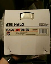 "HALO 6"" SATIN NICKEL OPEN RECESSED TRIM RINGS-NEW-#301SN -FREE SHIP - GLOBAL"
