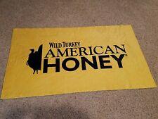 Wild Turkey American Honey Wiskey Yellow Beach Towel