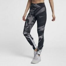 Nike Womens Epic Lux High Rise Printed Running Tights  - AJ4143 010 - Sz S - Blk