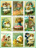 ~ Vintage Easter Post Cards 9 Small Prints on Fabric Quilting Sewing FB 257 ~