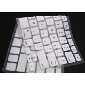Case Skin Silicone Keyboard Cover for Apple Macbook 15 inches WHITE SPANISH