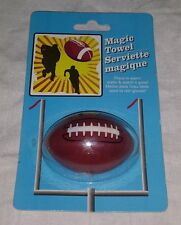 "American Football Pigskin Magic Towel Serviette Magique 11"" x 11"" NEW Sealed"