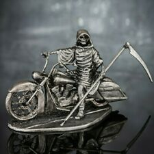Skeleton Biker Collection Figurine Motorcycle Metal Toy Soldiers 54mm 1/32 scale