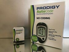 Prodigy Blood Glucose Test Strips 50 Qty plus meter Exp 06/2021 Free shipping