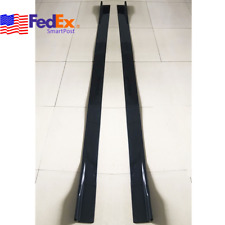 "Pair 86"" Car Side Skirt Body Extension Moulding Apron Panel Diffuser Splitter Us"