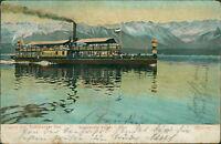 Ansichtskarte Starnberger See Salondampfer Bavaria in Fahrt 1905  (Nr.730)