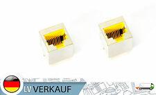 2 Stück RJ45 Buchse Lötbuchse gelb Netzwerk LAN für PCB Prototypig 8P8C