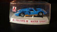 Politoys Matra Sport scala 1/43 box scatola plastica teca