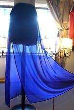 NWT NEW Lady Blue Short Skirt Long Sheer 10 Woman H & M Divided Medium Feminine