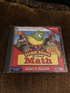 Jumpstart 2nd Grade Math Windows educational homeschool learning Cd Rom Mint