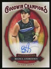 2020 Upper Deck Goodwin Champions Tennis Bianca Andreescu AUTO