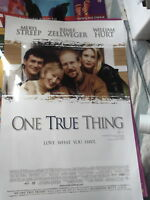 ONE TRUE THING 1 SHEET AUST  VIDEO VERSION MOVIE POSTER