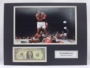 RARE Muhammad Ali Boxing Signed Photo Display + COA AUTOGRAPH THE GREATEST