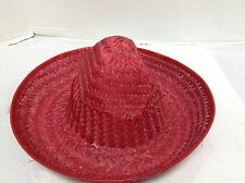 1 Kids Toys Mexican Sombrero Straw Hat Birthday Party Fiesta Supplies Red