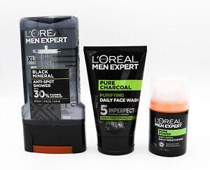 L'Oreal Men Expert Pure Charcoal Oily Skin Kit - NEW - Damaged Box