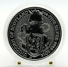 U.K. 2018 Queens Beasts Series - The Unicorn of Scotland 2 Oz Silver Coin