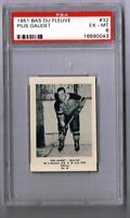 1951-52 Bas Du Fleuve Hockey Card Mont-Joli #32 Pius Gaudet Graded PSA 6