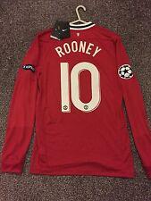 Manchester United 11/12 Home Champions League Shirt lange Ärmel NEU (S) 10 Rooney