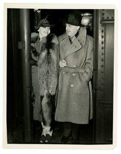 JOHN BARRYMORE, ELAINE BARRIE original news photo 1930s