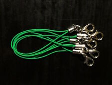 5 Bänder/Band für Anhänger - grün - Handy/Schmuck/Charm/USB-Stick *neu*