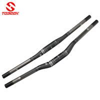 TOSEEK 3K Carbon Fiber MTB Mountain Bike Flat Riser Bar Handlebar 31.8*600-760mm