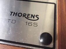 Thorens TD Claps Coprivite Plastica Nero Set nuovo di 4 x TD 160 165 166 super