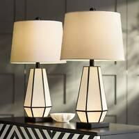 Zoe Modern Geometric Night Light Table Lamps Set of 2