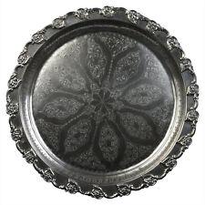 Marokkanisches Silbertablett I Orientalisches Tablett I Teetablett