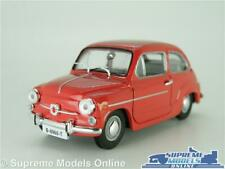 SEAT FIAT 600 MODEL CAR RED 1:43 SCALE SOLIDO SPECIAL ISSUE 500 K8