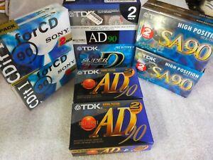 Lot 16 K7 cassette audio TDK SA90 High Position D90 sony cdit 90 Neud Blister