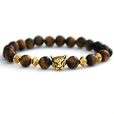 Tigers Eye Jewellery, Leopard Bracelet, Gift for Men, Gift for Boyfriend