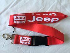 Jeep Lanyard NEW Red - UK Seller - Car Keyring ID Holder Phone Strap