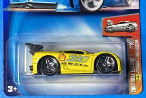 2004 Hot Wheels First Editions 7/100 Tooned 360 Modena Ferarri Yellow PR5 Spoke