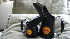 SET OF 2 RETRO REPRODUCTION SHELL OIL JUGS( 250ml & 500ml)