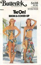 1970's VTG Butterick Misses' Bikini & Cover-Up Pattern 5438 Size Medium UNCUT