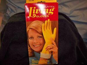 Playtex Living Gloves Circa 1978 Size Large Yellow