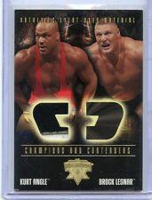 2004 FLEER WWE WRESTLEMANIA XX KURT ANGLE EVENT WORN MEMORABILIA