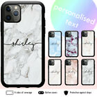 iPhone 12 11 Pro Max XS XR X 8 7 6 Plus Shockproof Case Marble Personalised Name