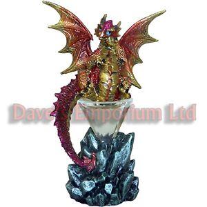 Baby Dragon Sitting on an Illuminated Crystal Pyramid - Juliana Mystic Legends