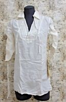 NEW Da-Nang Women's Summer Casual T-Shirt Dress Side Zip WHITE SKP42071225 SMALL