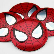 "4x 56mm 2.2"" Auto Wheel Center Hub Cap Emblem Decal Sticker for Spider-Man NEW"
