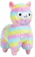 "NEW 7"" Cute Kawaii AMUSE Rainbow Alpacasso Alpaca Llama Soft Plush Toy Doll USA"