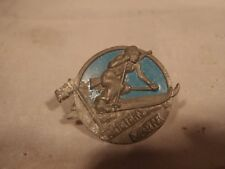 Swedish WW 2 Patriotic Military Biathlon pin silver version  Sweden
