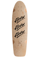 TONY ALVA 1979 Tri Logo Natural Black Old School Shaped Reissue Skateboard Deck