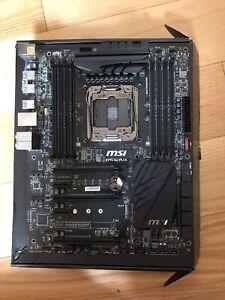 MSI X99S SLI PLUS, LGA 2011/Socket R, Intel Motherboard Damaged PCIE Slot