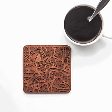 London map coaster One piece  wooden coaster Multiple city IDEAL GIFTS
